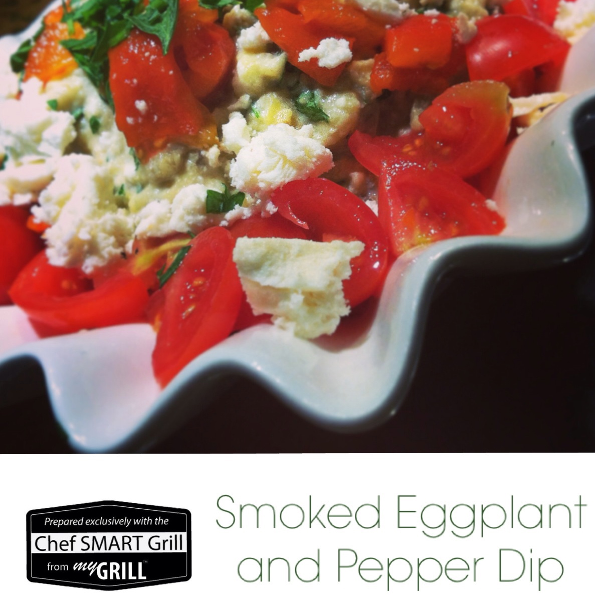 Tastes of the Med: Smoked Eggplant + Sweet Pepper Dip with Greek Feta ...